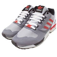 online store 63664 39bc8 Unisex Adidas Originals ZX Flux Weave Zapatos Gris rojo B34899 en stock