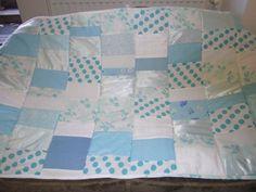 patchworkdecke,mint,weiß