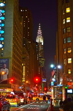 Midtown Manhattan, Lexington Avenue in the evening