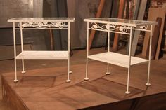 If you think this iron table duo is cute on its own, just wait until you see how partners Erika and Evey reinvented it.