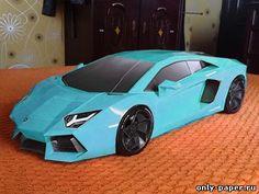 Lamborghini Aventador Papercraft, paper model free download.