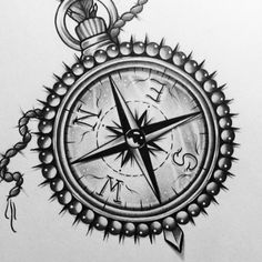 ⚡️For an apointment in Germany, Hannover, pls contact @jane_doe_tattoo #compass #edwardmiller #tattooartist ⚡️