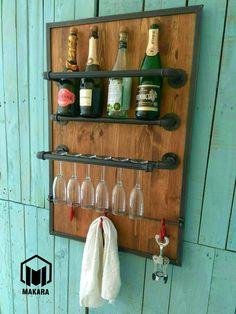Мини бар, подставка для бутылок вина и бокалов в стиле лофт (loft) industrial. 093 46-46-057 Евгений