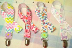 Dummy / Pacifier Holder Clip by TinyTotsTreasures1 on Etsy, $3.95