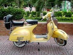 Yellow Vespa - so cool !