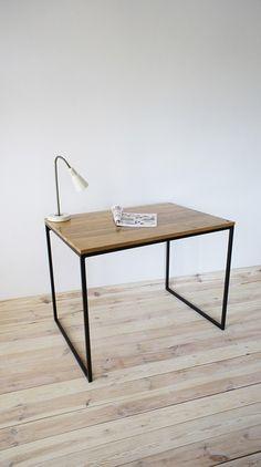 Schreibtisch,+Tisch,+Industrial+Black+Oak+von+Projekt+Drewno+auf+DaWanda.com