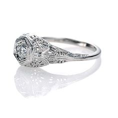 art deco vintage reproduction ring