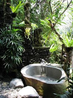 Outdoor bath! Bali, Indonesia  Photo by Taryn Koerker