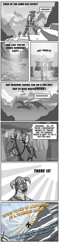 """An Infomercial For How You Actually Play Skyrim"" #dorkly #geek #skyrim"