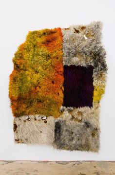 Anna Betbeze - Hot Hole, 2016, wool, acid, dyes, ash, 221 x 172,7 cm