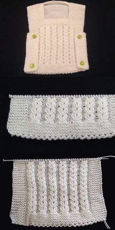 It's Never Been Easier to Make a Knitted Baby Vest - Kindermode Diy Crafts Knitting, Diy Crafts Crochet, Easy Knitting Patterns, Knitting Designs, Free Knitting, Baby Knitting, Crochet Patterns, Knitted Baby, Baby Sweaters