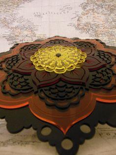 Laser Cut Acrylic Mandala Art by LaserEtchedDesigns on Etsy