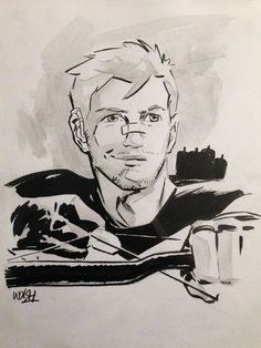 Hawkeye commission with hearing aids, by Michael Walsh - Toronto Fan Expo, 03 September 2015
