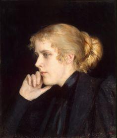 Portrait of M. V. Dyakovskaya-Geirot by Albert Edelfelt (Finnish 1854 – 1905)