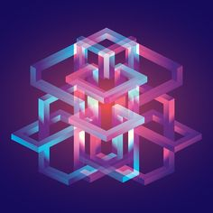 Isometric Explorations on Behance Isometric Shapes, Isometric Drawing, Isometric Design, Graphic Design Illustration, Digital Illustration, House Illustration, Concept Models Architecture, E Mc2, Math Art