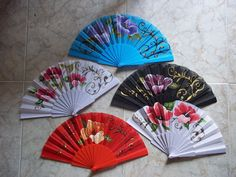 varios Hand Fans, Hands, Japanese, Nice, Pretty, Ideas, Painted Fan, Different Types Of, Shawl
