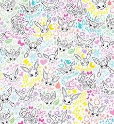 spread the love! Pokemon Room, Pokemon Pins, All Pokemon, Cute Pokemon, Pokemon Eeveelutions, Eevee Evolutions, Doodle Background, Paper Background, Pictures To Draw