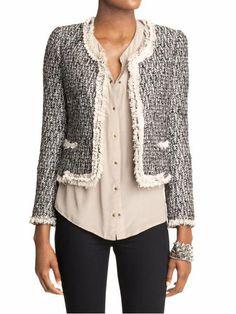 plastic island paradise tweed jacket - chanel look-alike