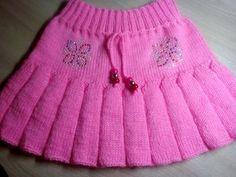 Платье-сарафан для девочки 2 - 3 лет (спицы). knitting dress for girls 2-3 years - YouTube
