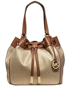 Women's Shoulder Bags - Michael Kors Marina Large Gathered Tote Dark GoldLuggage * Check this awesome product by going to the link at the image.