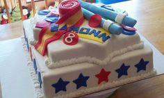 Taekwondo birthday party cake
