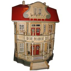 German GOTTSCHALK Red Roof antique DOLLS' House