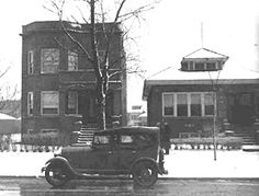 Al Capone's Chicago Home - 1923-1947 - 7244 S. Prairie, Chicago (Photo Courtesy of Chicago History Museum - CHS DN -91356)
