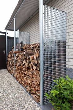 Metal Firewood Storage : Good Firewood Storage Ideas