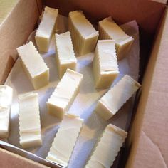 Boxing up new soaps! Check out the whole process on making soap by going to this article!