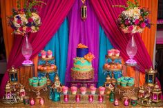 You won't believe this amazing Moroccan birthday party! See more party ideas at… Morrocan Theme Party, Moroccan Party, Moroccan Theme, Aladdin Birthday Party, Aladdin Party, Birthday Parties, Theme Parties, Birthday Ideas, Jasmin Party