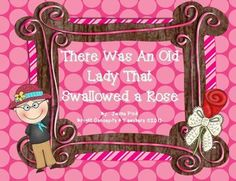 There Was An Old Lady Who Swallowed A Rose-FREEBIE includes: sequencing and graphing practice