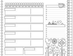 US Letter Printable Planner Weekly Calendar Bullet Bullet Journal Writing, Bullet Journal Ideas Pages, Bullet Journal Inspiration, Journal Pages, Printable Planner Pages, Printables, Printable Calendars, Bujo, Week Planer