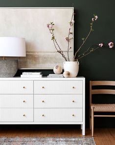 Home Decoration Ideas With Paper .Home Decoration Ideas With Paper Bedroom Dressers, Dresser As Nightstand, Bedroom Dresser Styling, Entryway Dresser, Dresser In Living Room, Ikea Dresser Hack, Dresser With Tv, Nightstands, Chest Of Drawers Decor