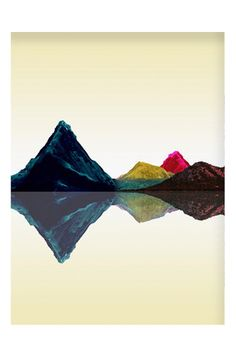 Add the Retro Mountains Art Print to your gallery wall for a pop of color.