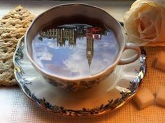 Have a cup of tea in London.