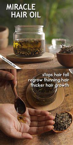 Diy Hair Growth Oil, Diy Hair Oil, Herbs For Hair Growth, Homemade Hair Growth Oil, Faster Hair Growth, Natural Hair Treatments, Homemade Hair Treatments, Diy Hair Treatment, Natural Remedies