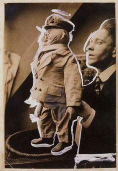 John Heartfield, Der Konservative Herr und seine Marionnette, 1919