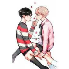 Hng, one of my fave Vkook fanarts, thank you artist