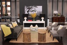 Modern livingroom with traditional layout