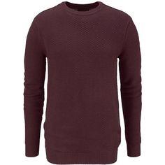 Schlichter roter #Strickpullover von John Devin. Der #Pullover ist super für einen angesagten #Alltagslook. - ab 29,99 €