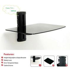 液晶電視DVD架 影音架 音響架 機上盒 置物架 玻璃托盤 單層壁掛架 - PChome線上購物 - 24h 購物
