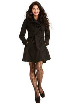 RUFFLED COAT- so pretty and lady like