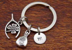 Horse shoe Keychain, horseshoe Key Ring, Good Luck Charm, Boyfriend Gift Keychain, Custom Keychain, Valentine Day Gift For Him by StampsINK on Etsy
