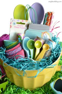 20 cute homemade easter basket ideas wine nails easter baskets 8 lovely easter basket ideas for kids and adults diy land negle Images