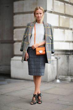 Street Chic London Fashion Week Spring 2014. J.Crew, Boden, Nicholas Kirkwood.