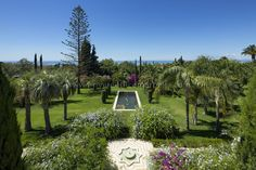 Dreamlike mansion with sea views in a park-like garden in Marbella.