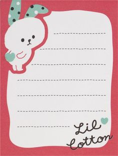 cute pink-red rabbit mini Note Pad from Japan  4