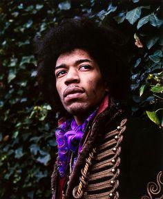 Jimi Hendrix in Montpelier Square London, 1967