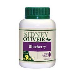 Blueberry 560 mg - sidney oliveira com 30 cápsulas por R$9,99