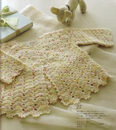 crochet baby cape and long cardigan for infant